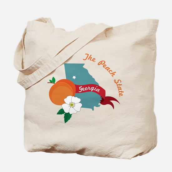 The Peach State Tote Bag