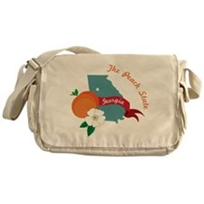 The Peach State Messenger Bag