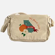 The Peach State Messenger Bag