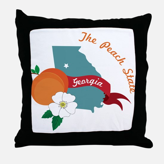 The Peach State Throw Pillow