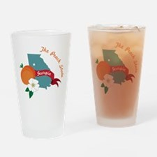 The Peach State Drinking Glass