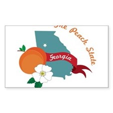 The Peach State Decal