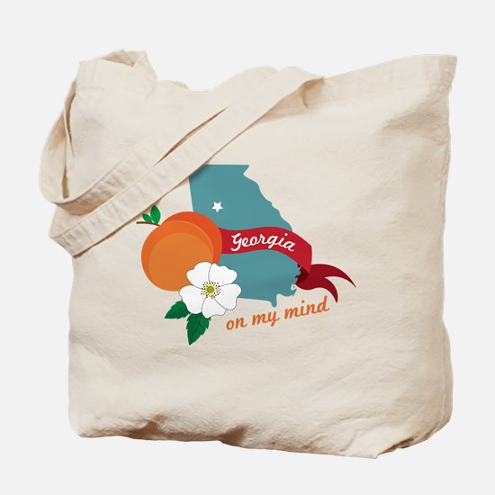 Georgia On My Mind Tote Bag