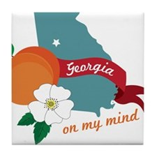 Georgia On My Mind Tile Coaster