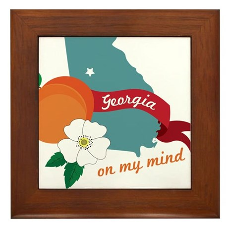 Georgia On My Mind Framed Tile
