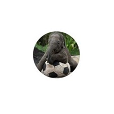 Elephant Soccer Mini Button (10 pack)