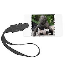 Elephant Soccer Luggage Tag