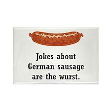 German Sausage Black Magnets