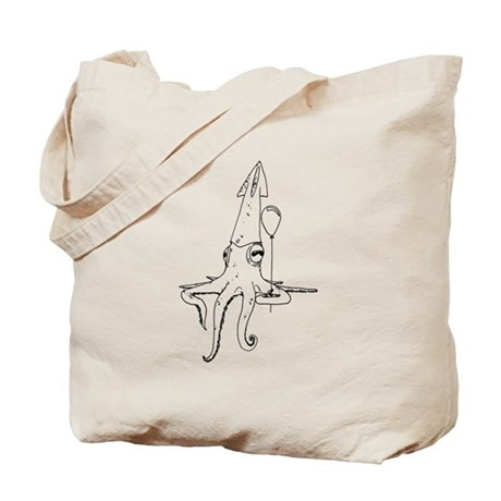 Squid with a balloon Tote Bag