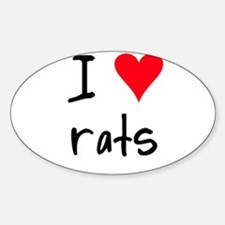 I LOVE Rat Decal