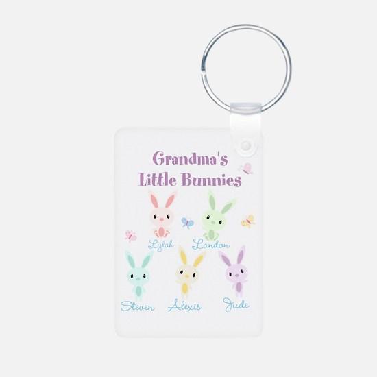Grandmas little bunnies custom Keychains