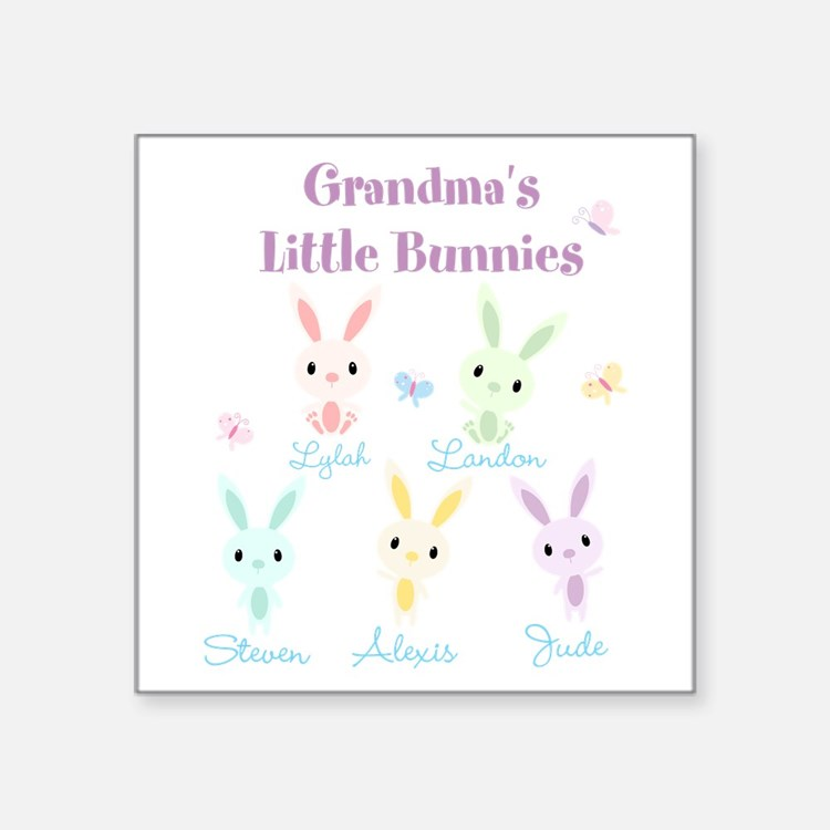Grandmas little bunnies custom Sticker