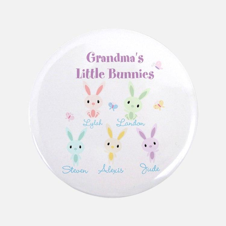 "Grandmas little bunnies custom 3.5"" Button"
