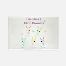Grandmas little bunnies custom Rectangle Magnet