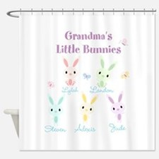 Grandmas little bunnies custom Shower Curtain