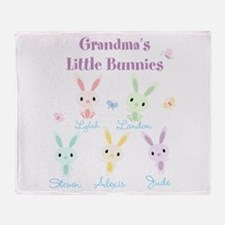Grandmas little bunnies custom Throw Blanket