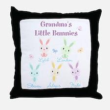 Grandmas little bunnies custom Throw Pillow