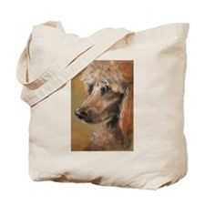 Funny Red poodle Tote Bag