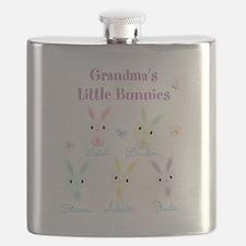 Grandmas little bunnies custom Flask