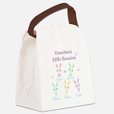 Grandmas little bunnies custom Canvas Lunch Bag