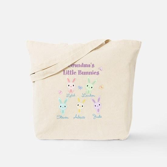 Grandmas little bunnies custom Tote Bag