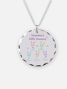 Grandmas little bunnies custom Necklace