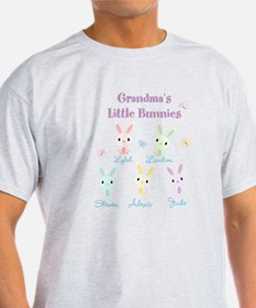 Grandmas little bunnies custom T-Shirt