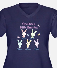 Grandmas little bunnies custom Plus Size T-Shirt