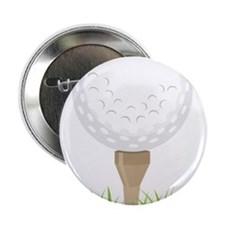 "Golf Tee 2.25"" Button"