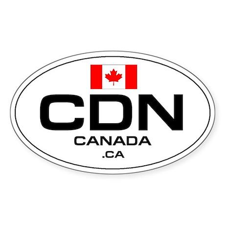 UN-Style Oval Automobile Sticker - Canada