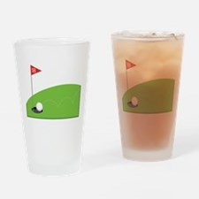 18th Hole Drinking Glass
