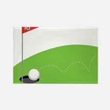 18th Hole Rectangle Magnet