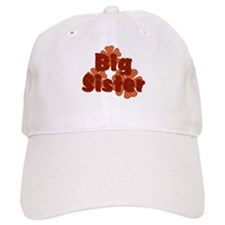 Big Sister Retro Flowers Orange Baseball Baseball Cap