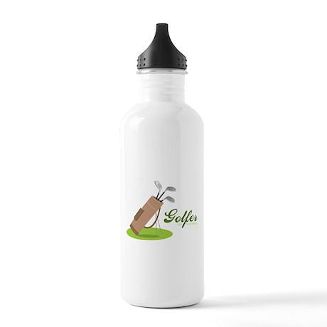 Golfer in Training Water Bottle