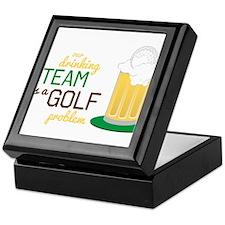 Golf Problem Keepsake Box