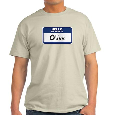 Hello: Olive Ash Grey T-Shirt