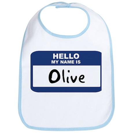 Hello: Olive Bib