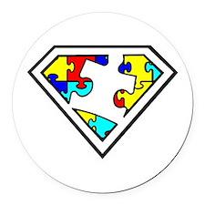 Autism is a Super Power Round Car Magnet