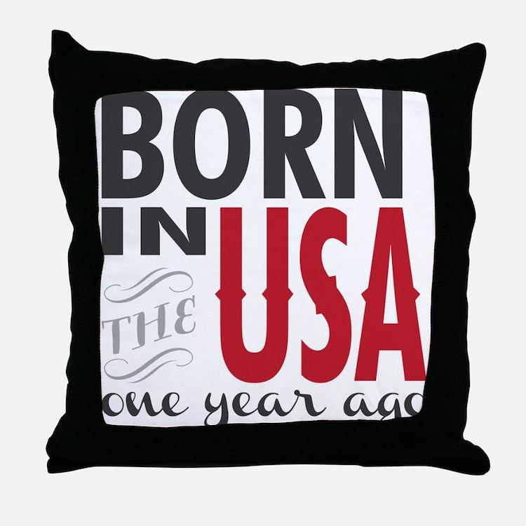 One Year Ago Throw Pillow
