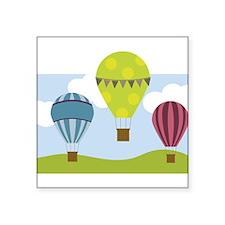 Hot Air Balloon Scene Sticker