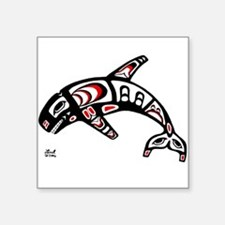 Killer Whale Rectangle Sticker