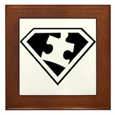 Autism is a Super Power Framed Tile