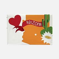 I Heart Arizona Rectangle Magnet