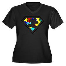 Autism is a Super Power Plus Size T-Shirt