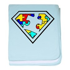 Autism is a Super Power baby blanket
