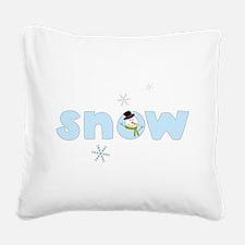 Snow Square Canvas Pillow