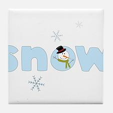 Snow Tile Coaster