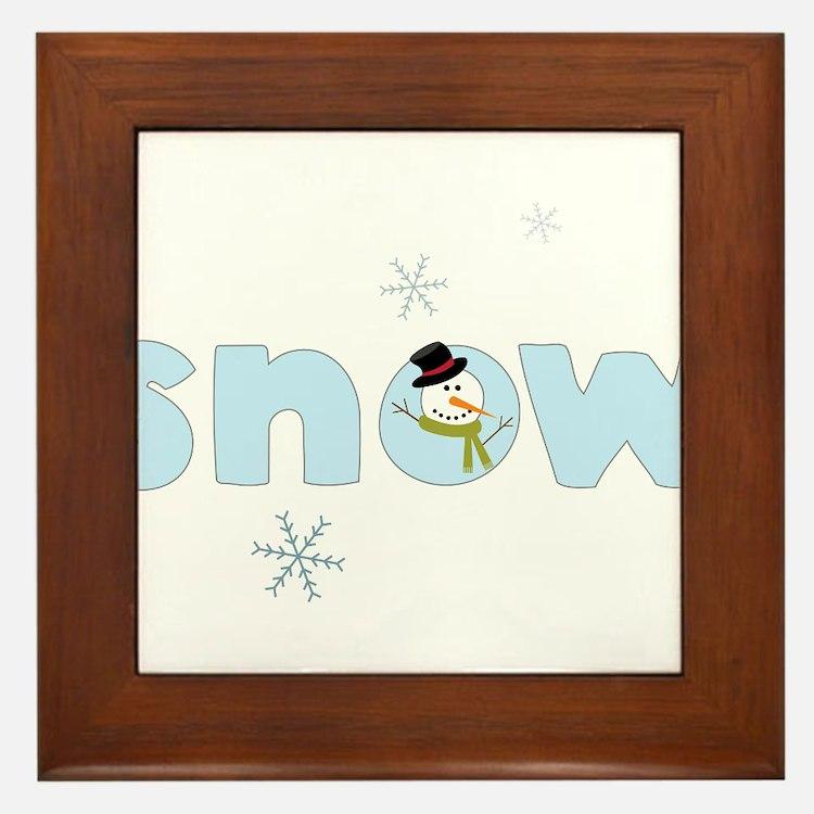 Snow Framed Tile