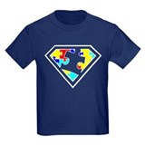 Autism is a super power t-shirt Kids T-shirts (Dark)