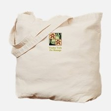 Timber Tails Pet Massage Canvas Tote Bag